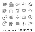 set of casino game vector line... | Shutterstock .eps vector #1229455924