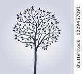 beautiful simple tree.... | Shutterstock .eps vector #1229457091