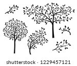 set of beautiful simple trees... | Shutterstock .eps vector #1229457121
