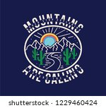 vintage mountains are calling... | Shutterstock .eps vector #1229460424