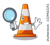 detective traffic cone on made... | Shutterstock .eps vector #1229462251