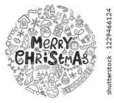 merry christmas. christmas card ...   Shutterstock .eps vector #1229466124