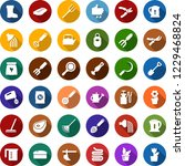 color back flat icon set  ... | Shutterstock .eps vector #1229468824