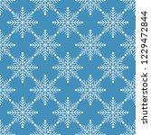 snowflake pattern vector. | Shutterstock .eps vector #1229472844