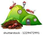 underground hole ant home... | Shutterstock .eps vector #1229472991