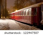 Night Scene With Old Train Car...