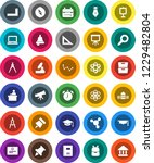 white solid icon set  copybook... | Shutterstock .eps vector #1229482804