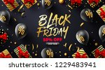 black friday sale poster with... | Shutterstock .eps vector #1229483941