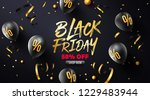 black friday sale poster with... | Shutterstock .eps vector #1229483944