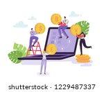 mobile currency exchange... | Shutterstock .eps vector #1229487337