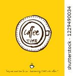 cafe poster   sketchy coffee... | Shutterstock .eps vector #1229490034