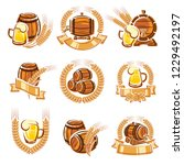beer labels set. vector | Shutterstock .eps vector #1229492197