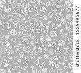 various food seamless pattern... | Shutterstock . vector #1229495677