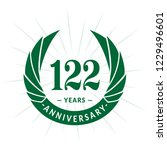 122 years anniversary. elegant... | Shutterstock .eps vector #1229496601