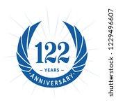 122 years anniversary. elegant... | Shutterstock .eps vector #1229496607
