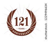 121 years anniversary. elegant... | Shutterstock .eps vector #1229496634