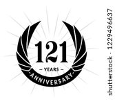 121 years anniversary. elegant... | Shutterstock .eps vector #1229496637