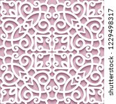 cutout paper pattern  lace... | Shutterstock .eps vector #1229498317