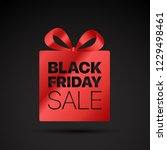 black friday shopping tag.... | Shutterstock .eps vector #1229498461