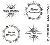 merry christmas and hello... | Shutterstock .eps vector #1229499214