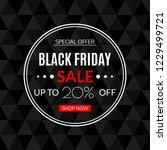 black friday sale banner. 20 ... | Shutterstock . vector #1229499721