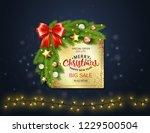 christmas sale banner.... | Shutterstock .eps vector #1229500504