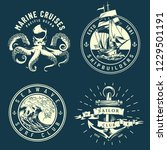 vintage marine and nautical... | Shutterstock .eps vector #1229501191