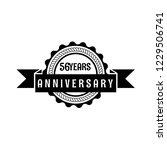 56 years anniversary... | Shutterstock .eps vector #1229506741