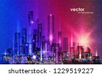 night urban landscape.... | Shutterstock .eps vector #1229519227