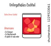americano alcoholic cocktail... | Shutterstock .eps vector #1229523061