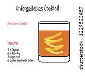 sazerac alcoholic cocktail... | Shutterstock .eps vector #1229523457