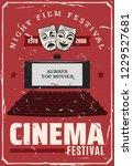 cinema festival or movie... | Shutterstock .eps vector #1229527681