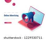 loudspeaker isometric icon ... | Shutterstock .eps vector #1229530711