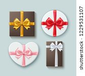vector realistic set of gift... | Shutterstock .eps vector #1229531107