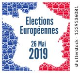 european union elections 2019... | Shutterstock . vector #1229536081