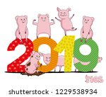 pig is the symbol of the new... | Shutterstock .eps vector #1229538934
