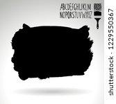black brush stroke and... | Shutterstock .eps vector #1229550367