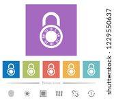 locked round combination lock...   Shutterstock .eps vector #1229550637