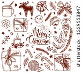 winter christmas and new year...   Shutterstock .eps vector #1229553847