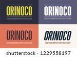 orinoko condensed bold ... | Shutterstock .eps vector #1229558197