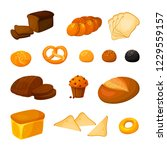 vector set of different kinds... | Shutterstock .eps vector #1229559157