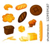 vector set of different kinds... | Shutterstock .eps vector #1229559187