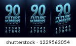 sport future number blue glow... | Shutterstock .eps vector #1229563054