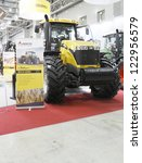 Small photo of MOSCOW- OCTOBER 11:Tractor the brand Challenger MT685D American company AGCO at the international exhibition AGROSALON on October 11,2012 in Moscow