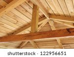 Interior View Of A Wooden Roof...