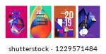 2019 new abstract poster... | Shutterstock .eps vector #1229571484