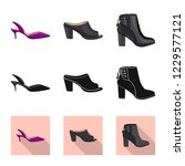 isolated object of footwear and ... | Shutterstock .eps vector #1229577121