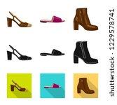 vector illustration of footwear ... | Shutterstock .eps vector #1229578741