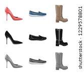 vector illustration of footwear ... | Shutterstock .eps vector #1229578801