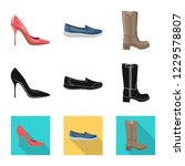 isolated object of footwear and ... | Shutterstock .eps vector #1229578807